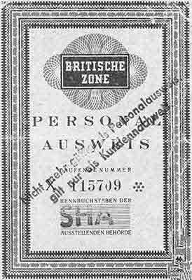 British Zone Pass.