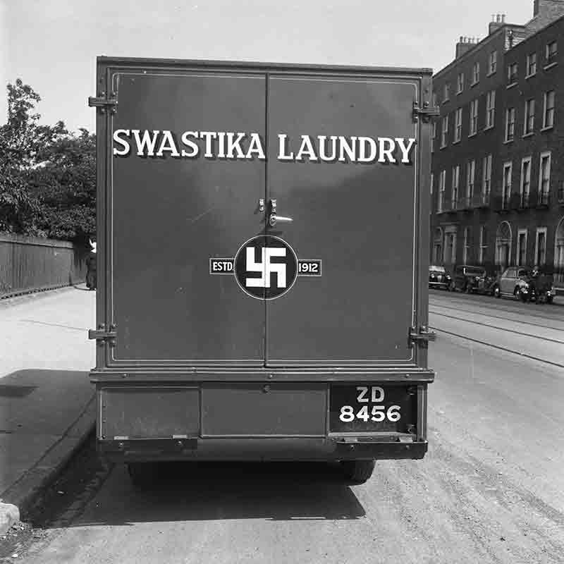 Truck with swastika