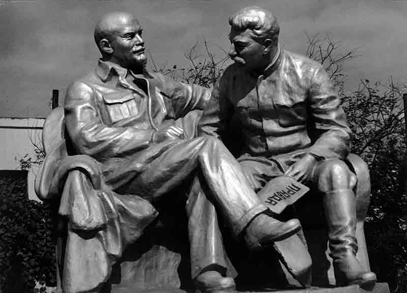 Lenin and Stalin Statue