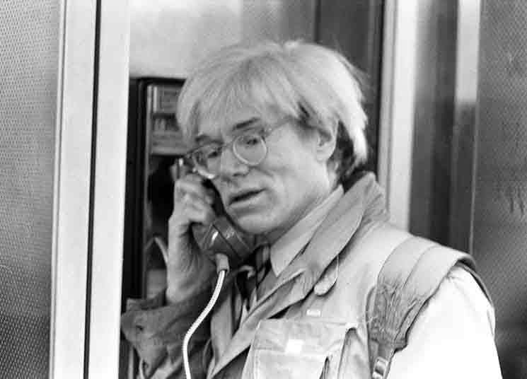 Andy Warhol in public phone box