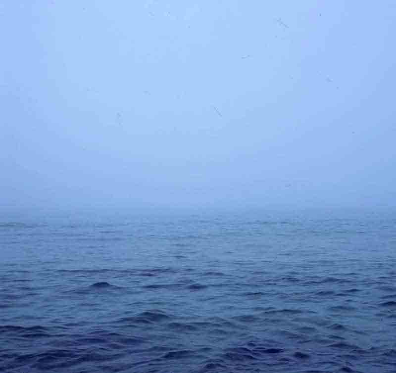 Blue Sea in the mist