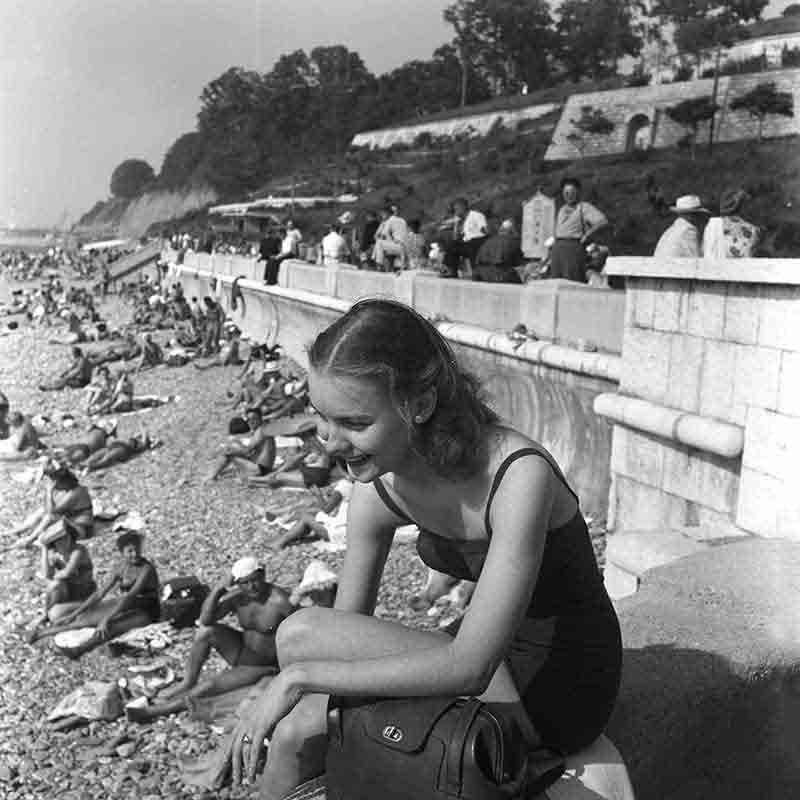 Young woman at the beach in sochi